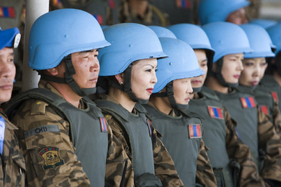 Peacekeepers at Mongolian Peace Operations Training Centre