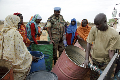 Water Distribution by UNAMID in Tora Northern Darfur