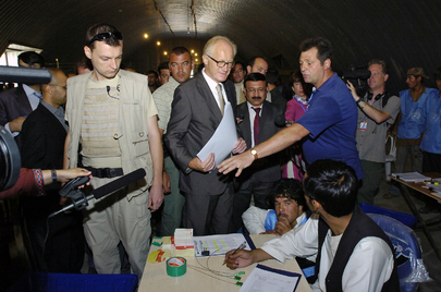 Special Representative for Afghanistan Visits Elections Logistics Base