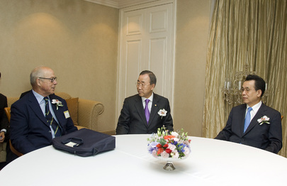 Secretary-General Meets Korean Prime Minister and President of WFUNA