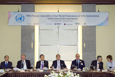 Secretary-General Attends WFUNA Luncheon