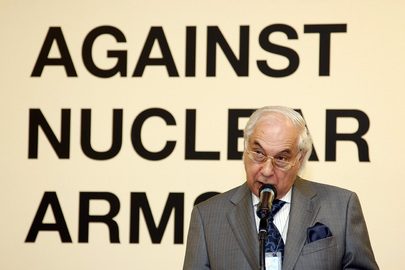 "UN Disarmament Chief Opens Exhibition ""Against Nuclear Arms"""