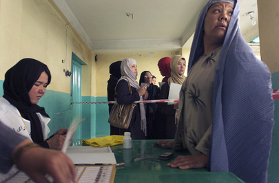 Afghanistan Holds Presidential and Provincial Council Elections
