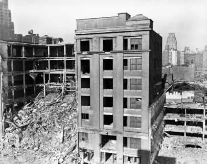 Clearing Ground for United Nations Permanent Headquarters Building