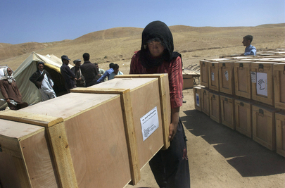 Humanitarian Aid Arrives at Sosmaqala IDP Camp in Afghanistan