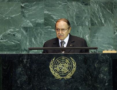 President of Algeria Addresses General Assembly