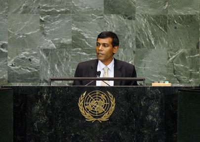 President of Maldives Addresses General Assembly