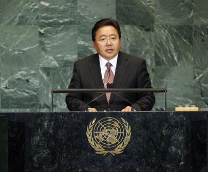 President of Mongolia Addresses General Assembly