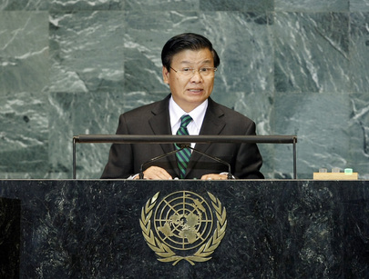 Deputy Prime Minister and Foreign Minister of Lao People's Democratic Republic Addresses General Assembly