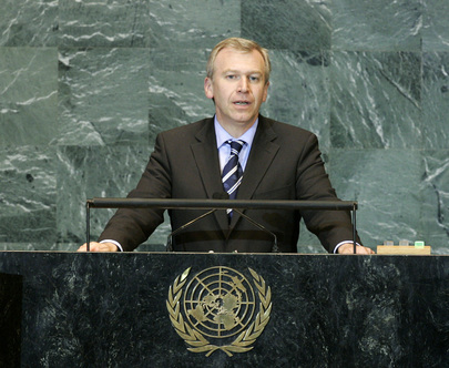 Foreign Minister of Belgium Addresses General Assembly