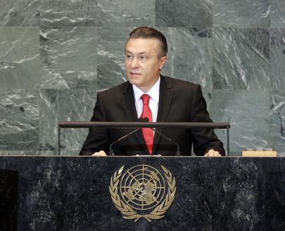 Foreign Minister of Romania Addresses General Assembly