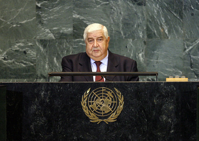 Foreign Minister of Syria Addresses General Assembly