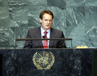 Minister of State for Overseas Development of Ireland Addresses General Assembly