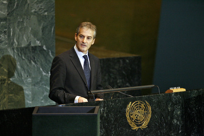 Foreign Minister of Norway Addresses General Assembly