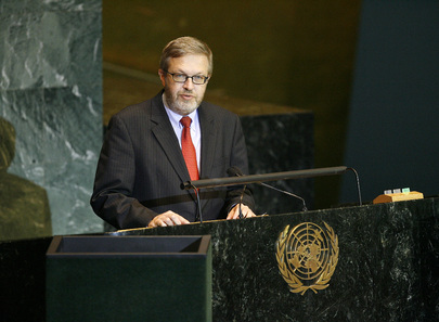 Chairman of Delegation of Denmark Addresses General Assembly