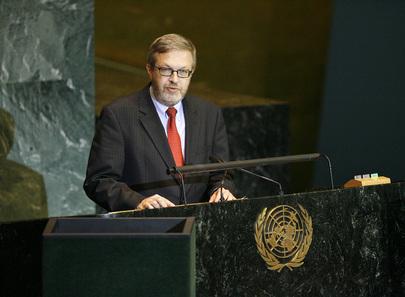 Chairman of Delegation of Denmark Addresses General Assembly