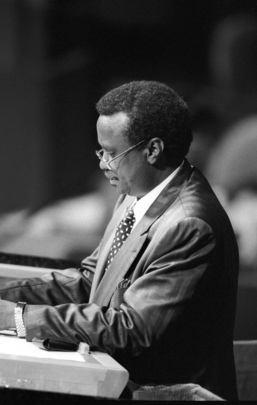 Foreign Minister of Djibouti Addresses Fiftieth Session of General Assembly