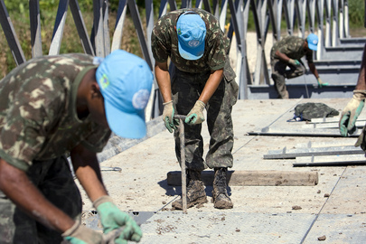 MINUSTAH Peacekeepers Assemble Bridge