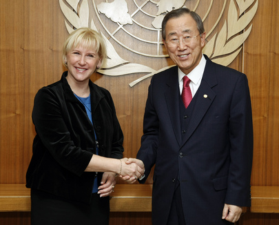 UN photo: Margot Wallström og Ban Ki-moon
