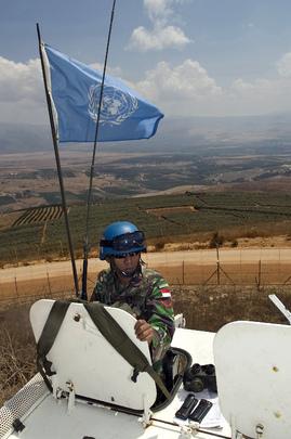 UNIFIL Peacekeeper Patrols Israel-Lebanon Border