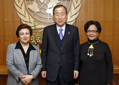Secretary-General Meets Nobel Peace Laureate and FIDH President