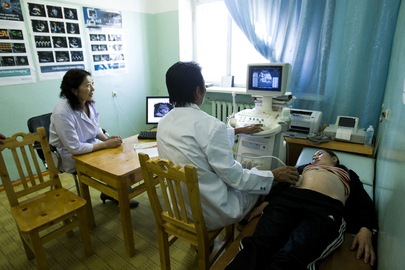 Mongolian Woman Receives Prenatal Care
