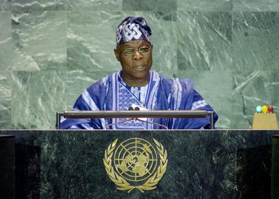 His Excellency Mr. Olusegun Obasanjo, President of the Federal Republic of Nigeria
