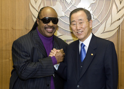 Secretary-General Appoints Stevie Wonder UN Messenger of Peace