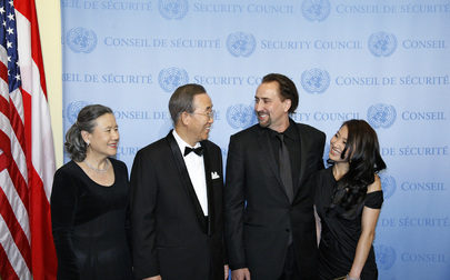 Secretary-General Meets New Goodwill Ambassador Nicolas Cage