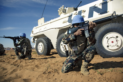 UNAMID Soldiers Train at Sudan Super Camp