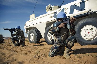 UNAMID Soldiers Train at Sudan Super Camp
