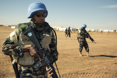 Nepalese UNAMID Soldier Trains at Super Camp