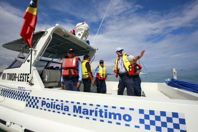 UNPOL Officer Gives Maritime Policing Tips in Timor-Leste
