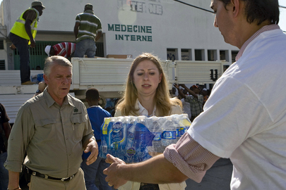 Daughter of Special Envoy for Haiti Helps Bring Supplies to Haiti Hospital