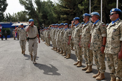 Farewell Parade for Polish Battalion at UNDOF Camp in Syria