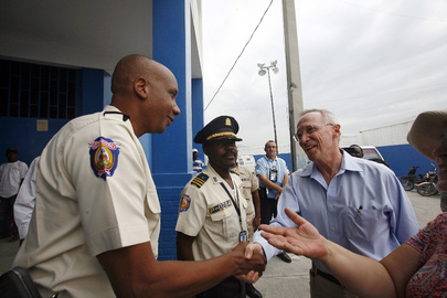 Acting UN Representative for Haiti Meets Haiti Police Director