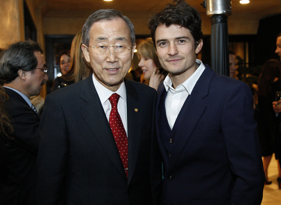 Secretary-General Meets Actor Orlando Bloom at Los Angeles Reception