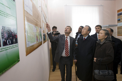 Secretary-General Visits Soviet Nuclear Test Site in Kazakhstan