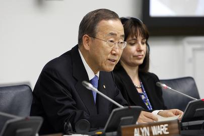 Ban Ki-moon quer ações conjuntas para enfrentar as mudanças climáticas.