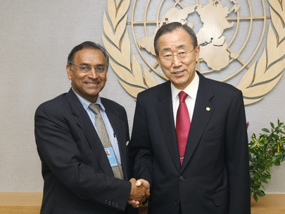 Secretary-General Meets President of Pugwash Conference on Science and World Affairs
