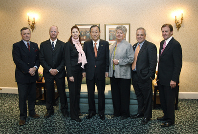 Secretary-General Meets UNA-Canada Board Members