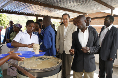 Secretary-General Visits Millennium Village School in Malawi