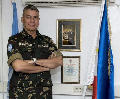 Head of UNDOF Poses for Portrait