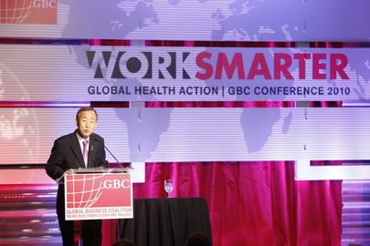 Secretary-General Speaks on HIV, TB, and Malaria at Business Coalition Conference