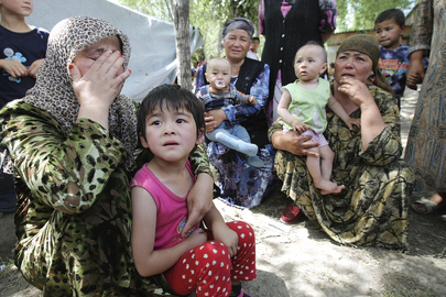 Uzbek Women and Children in Aftermath of Kyrgyzstan's Ethnic Clashes