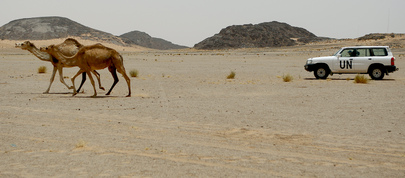 MINURSO Team on Patrol in Western Sahara