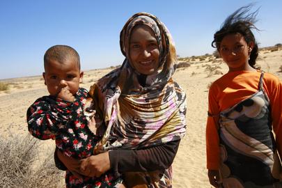 Western Saharans during MINURSO Patrol