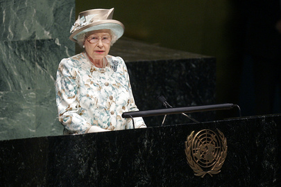 Queen Elizabeth II of United Kingdom Addresses General Assembly