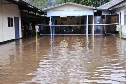 UNMIT Compound Flooded by Heavy Rains