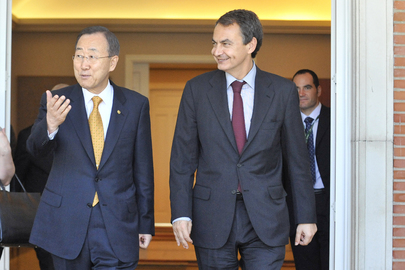 Secretary-General and Spanish Prime Minister Attend MDG Advocacy Meeting